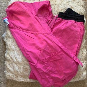 Hot Pink Scrub Set Size XS-S
